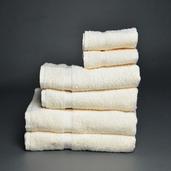 Essential Ivory 6 pieces Bath Set, 100% Cotton.
