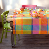 "Tablecloth Mille Wax Creole 35""x35"", cotton"