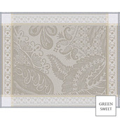 """Isaphire Platine Placemat 21""""x15"""", Green Sweet"""
