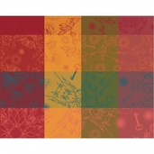 "Mille Alcees Litchi Placemat 16""x20"", 100% Cotton"