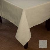 """Natte Beige Tablecloth 72""""x144"""", Cotton"""