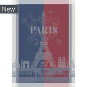 Paris Celebration Marseillaise Kitchen Towel, Cotton