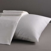Desire Collection White Standard/Queen Set of Two Pillow Cases 400TC, 100% ELS Cotton.