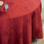 "Mille Feuilles Rouge Tablecloth 71""x98"", Cotton"