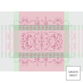 """Eugenie Candy Placemat 21""""x15"""", Green Sweet"""