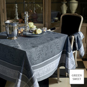 "Persina Noir Tablecloth 69""x143"", GS Stain Resistant"