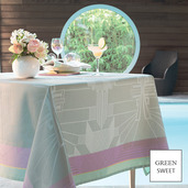 """Gatsby Neon Tablecloth 61""""X89"""", GS Stain Resistant"""