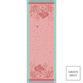"""Corail Rose Tablerunner 61""""X22"""", GS Stain Resistant"""