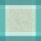 """Pondichery Lagon 21""""x21"""" Napkin, 100% Cotton - Set of 4"""