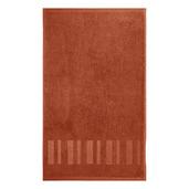 """Hammam Terracotta 12""""x20"""" Guest Towel, Organic Cotton - Set of 4"""