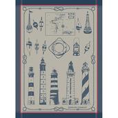 Phares Et Balises Bretagne Kitchen Towel, Cotton