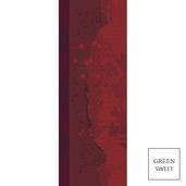 "Paysage Scarlet Tablerunner 22""x59"", GS Stain Resistant"