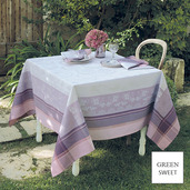 "Faiences Mauve Tablecloth 69""x120"", GS Stain Resistant"