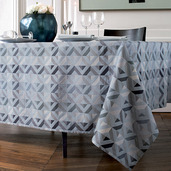 "Mille Twist Asphalte Tablecloth 61""x98"", 100% Cotton"