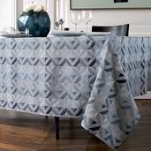 """Mille Twist Asphalte Tablecloth 61""""x98"""", 100% Cotton"""