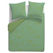 """Mille Couleurs Turquoise Duvet Cover 110""""x93"""", 100% Cotton"""