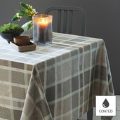 "Tablecloth Mille Ladies Argile 69""x98"", Coated - 1ea"