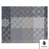 Mille Tiles Anthracite Placemat, Coated-4ea