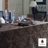 """Mille Eternel Ebene Tablecloth 69""""x98"""", Coated"""