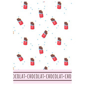 Le Chocolat Chaud Printed Kitchen Towel