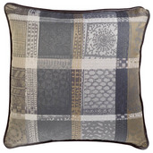 Cushion Cover Sm Mille Wax Cendre, Cotton - 2ea