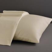 Desire Collection Ivory King Sheet Set 400TC, 100% ELS Cotton, Plain Sateen.