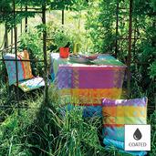"""Mille Colibris Antilles Tablecloth 69""""x98"""", Coated Cotton"""