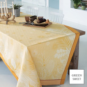 "Borneo Ambre Tablecloth 61""x61"", GS Stain Resistant"
