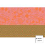"""Grenadier Set Rose Placemat 19""""x13"""", Green Sweet"""
