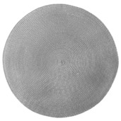 Pack of 4 Cascade Grey Vinyl Placemat