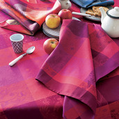 Mille Couleurs Pivoine Tablecloth Round 71, Organic Cotton