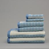 Venezia Denim Blue 6 pieces Bath Set, 100% Cotton.