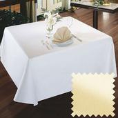 Plain Satin Ivory Cotton Tablecloth Square