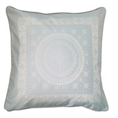 """Imperatrice Uni Argent Cushion Cover  20""""x20"""", Cotton/Polyester"""