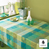 """Tablecloth Mille Couleurs Lime 69""""x98"""", Coated - 1ea"""