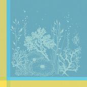Corail Lagon Napkin, Cotton-4ea