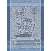 Lapin Design Blue Kitchen Towel
