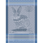 Lapin Design Blue Kitchen Towel