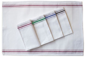 Pack of 12 Bistro Napkin Green Stripes
