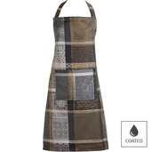 "Mille Wax Cendre Apron 30""x33"", Coated Cotton"