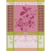 Kitchen Towel Fraisier Rose, Cotton - 1ea