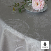 """Mille Eclats Macaron Irise Tablecloth 69""""x98"""", Coated"""