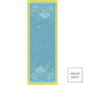 """Corail Lagon Tablerunner 61""""X22"""", GS Stain Resistant"""