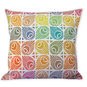 "Mille Paons Festival 16""x16"" Cushion Cover, 100% Cotton - Set of 2"