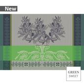 "Olives Set Vert Prairie Placemat 19""x13"", Green Sweet"