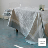 "Isaphire Platine Tablecloth 69""x69"", Green Sweet"