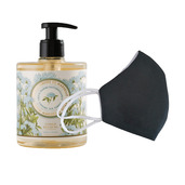 6 Washable protective masks GT9501 + 3 bottles of Firming Sea Samphire French Hand Soap.