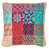 "Mille Tiles Multicolore Cushion Cover  16""x16"", 100% Cotton"