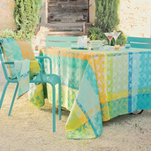 "Mille Colibris Maldives Tablecloth 71""x118"", Cotton"