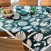 """Toucan Vert Tablecloth 45""""x45"""", 100% Cotton"""